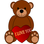 Valentines Day Teddy Bear vector illustration