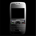 BlackBerry mobile phone vector image
