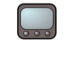 Television pettern vector drawing