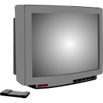 Vector illustration of silver TV set