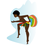 African woman dancer vector drawing
