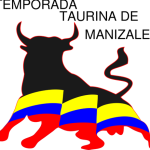 Bull silhouette with Colombian flag