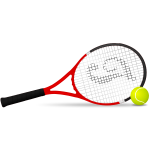 Tennis racket and ball vector clip art