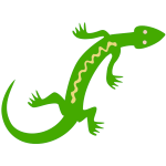 Green lizard icons