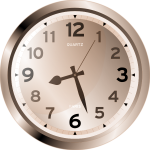 Quartz wall clock vector image