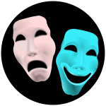 Theater masks vector clip art