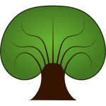 Tree vector drawing