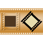 Three film strips vector image