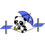 Panda on a tightrope vector image