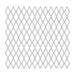tikigiki diamond grid pattern 1