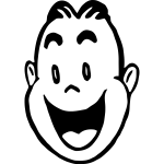 Vector graphics of amused man's face