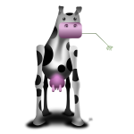 Odd cow vector illustration