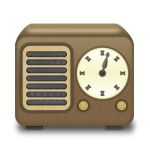 Wooden radio receiver vector clip art