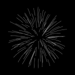 Silver fireworks vector clip art