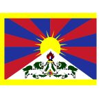Flag of Tibet vector image