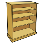Brown book case image