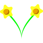 Daffodil flower vector image