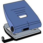 Paper hole punch vector drawing