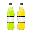 Vector image of bottles