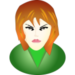 Face of angry woman vector