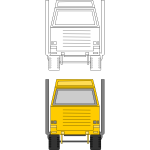 Tonka toys delivery truck vector clip art