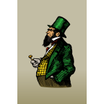 Clip art of fat man in green suit