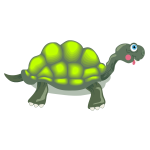Image of florescent green tortoise