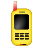 Toy mobile phone phone vector clip art