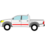 Toyota Hilux vector drawing