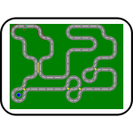 Wacky Racer web game board vector illustration