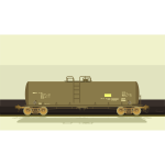 Vector illustration of container train