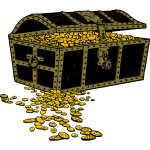 Overfilled treasure chest