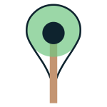 Pin Map Tree Icon