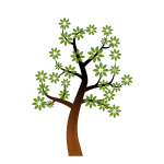 Simple spring tree branch vector clip art