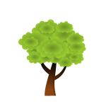 Tree in spring vector drawing