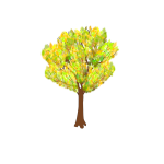 Tree in autumn vector graphics