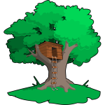 Tree house vector illustration