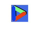 Triangle colored logotype