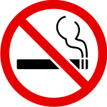 Vector graphics of smoking prohibited sign