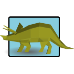 Green triceratops vector drawing