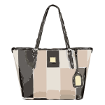 tricolor leather handbag