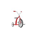 Vector clip art of red tricycle