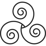 Triskelion drawing