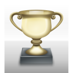 Vector clip art of shiny trophy