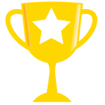 Golden trophy with glaze vector clip art