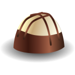 Illustration of delicious chocolate praline