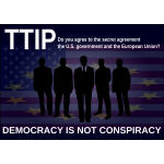 TTIP protest poster vector image
