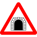 Road sign tunnel