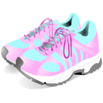 Vector drawing of sneakers