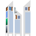 Jumeirah Emirates Tower Hotel style building vector clip art